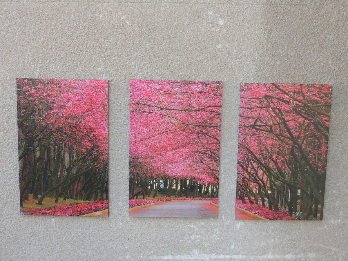 Cuadros Panoramicos Paisajes Tripticos Decoracin Arte 45000