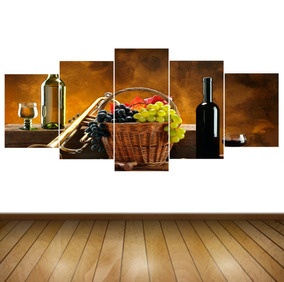 Cuadros Para Comedor 5 Piezas 70x120cm + Envio Gratis