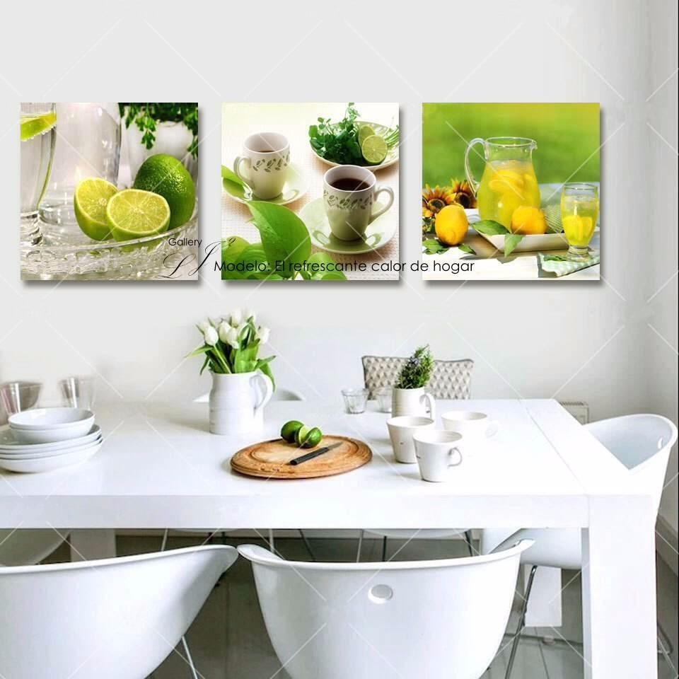 Cuadros Para Comedor Y Cocina Decoración Cocina Desayunador ...