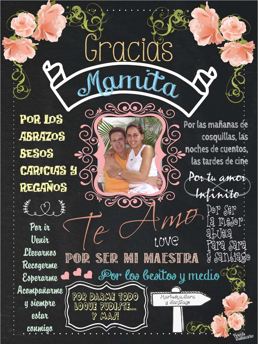 Cuadros Para El Dia De La Madre Pizarras Personalizadas Mama - S/ 38 ...
