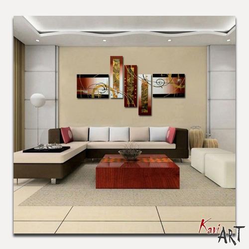 cuadros para sala, tripticos en tonos tierra, marrones
