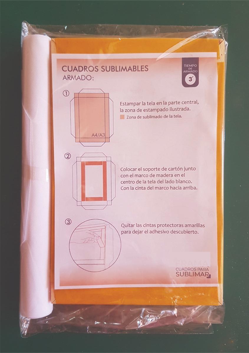 Cuadros Para Sublimar- Tamaño 36.5 X24 Cm. Para Impresión A3 - $ 100 ...