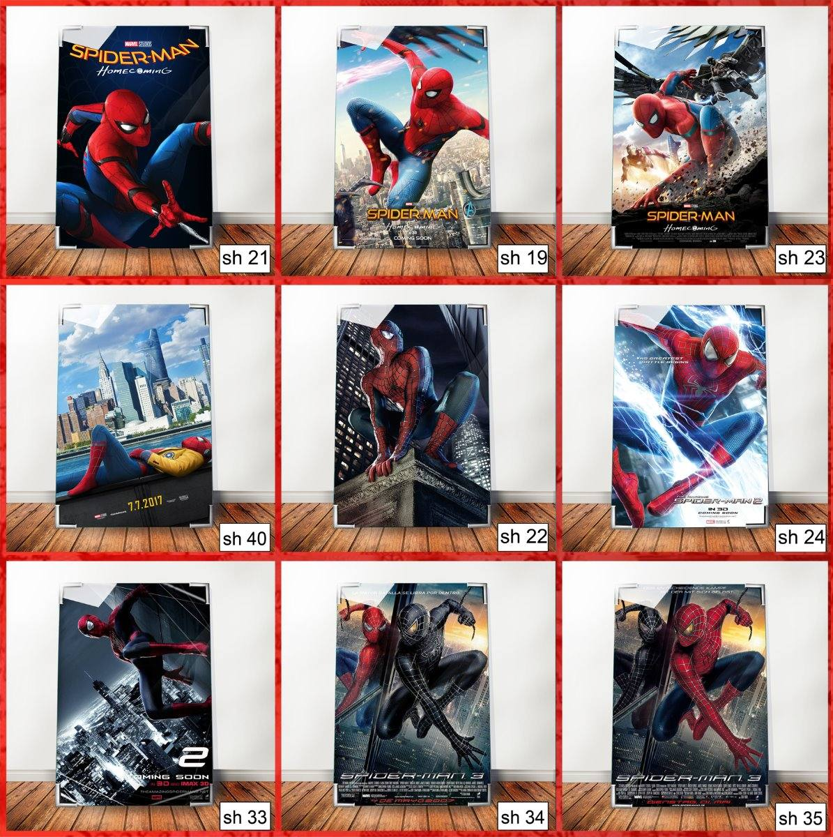 Cuadros Pelicula Marvel Comic Spiderman 3 Super Heroe Sh35 - $ 350 ...