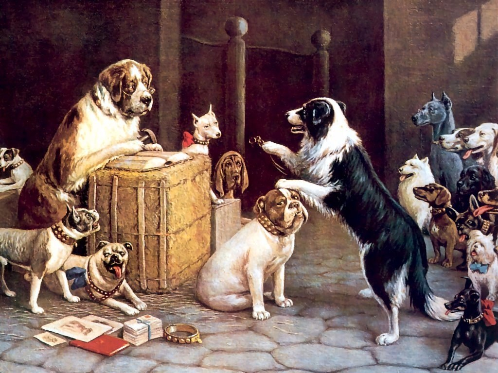 Cuadros Perros Jugando Al Poker Billar Pool 15x20 119 99 En