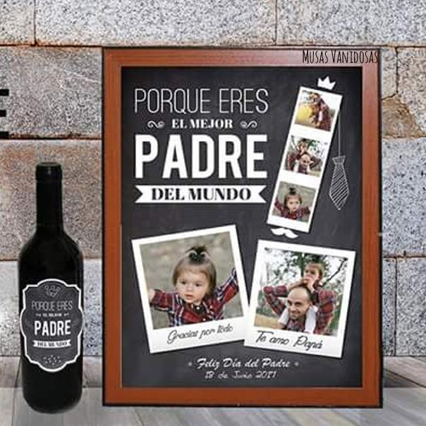 Cuadros personalizados feliz d a pap s 46 00 en - Cuadros fotos personalizados ...