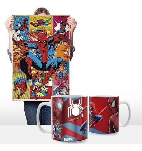 cuadros personalizados más taza 11oz. de spiderman 0002