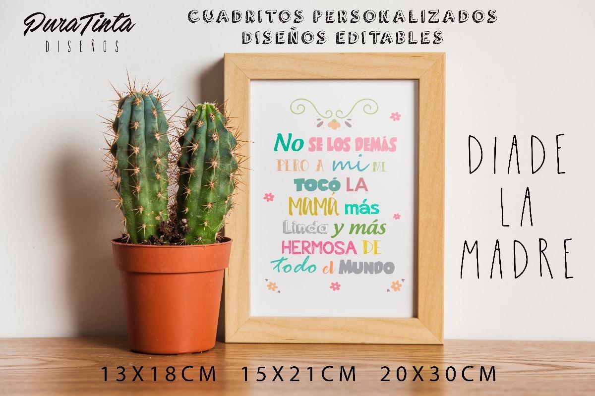 Cuadros Personalizados Regalo Día De La Madre En Rosario - $ 350,00 ...