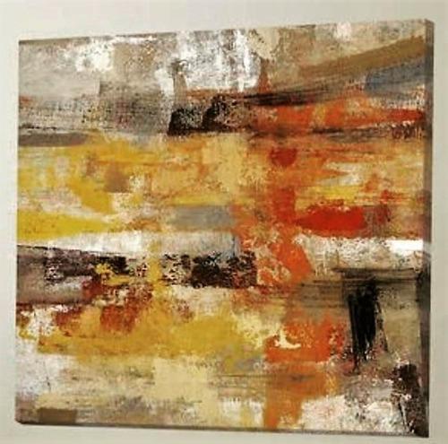 cuadros pintados a mano acrílico texturado abstractos 1mx1m