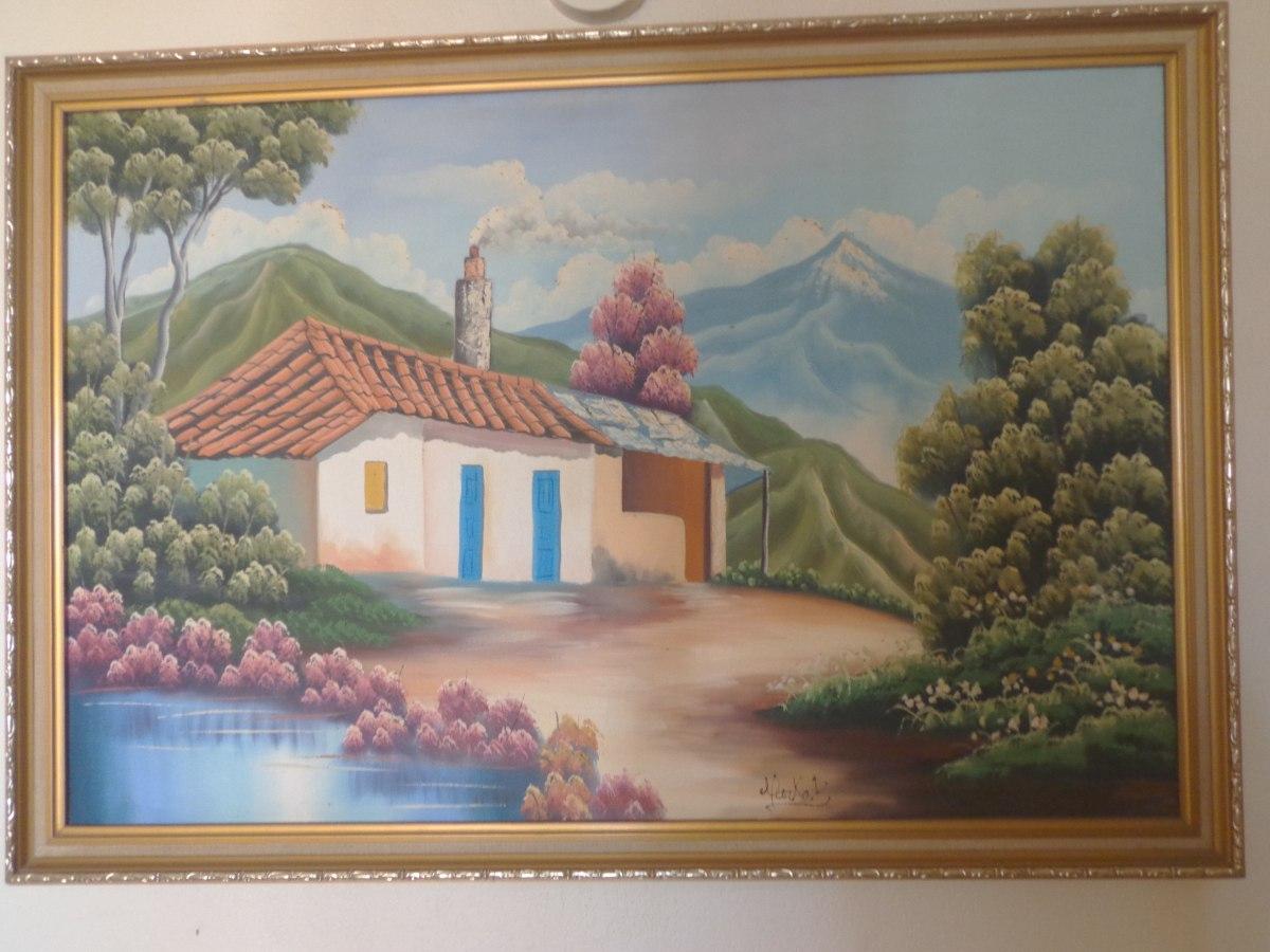 Cuadros pintados al oleo bs en mercado libre for Cuadros pintados al oleo