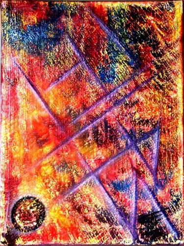 cuadros pintados al oleo. triptico.