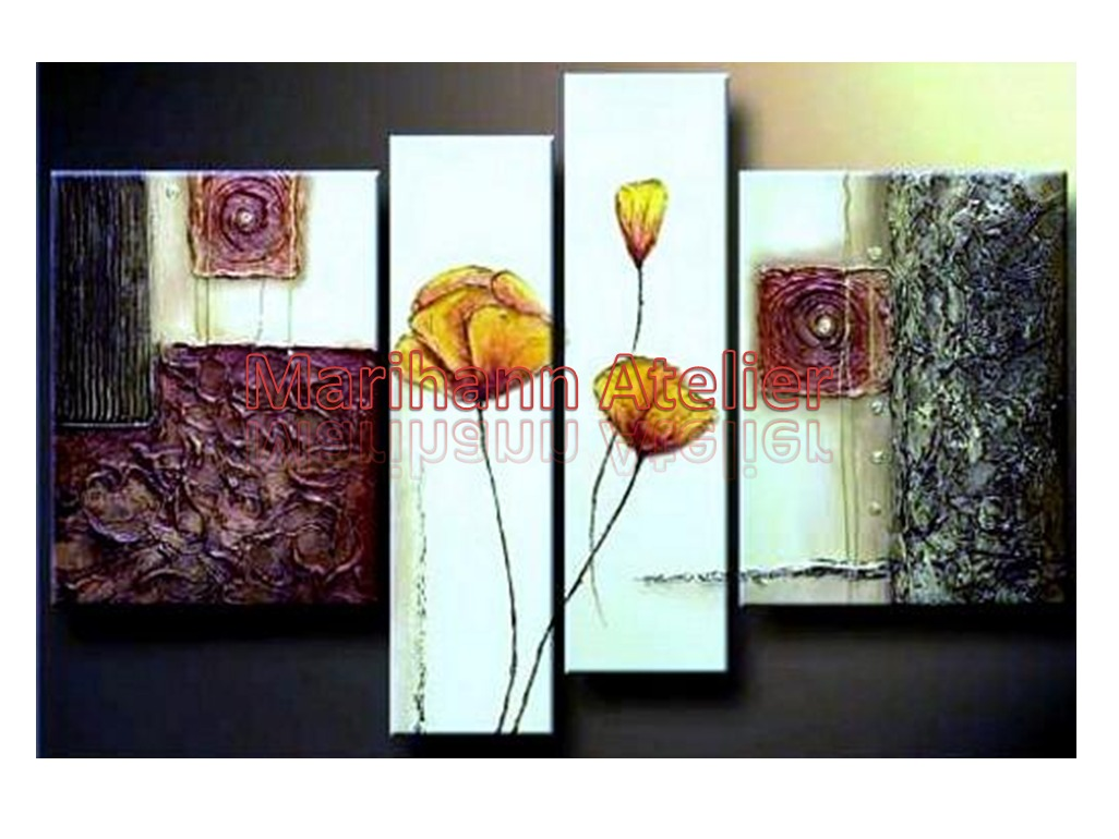 Cuadros pintura arte a mano modernos polipticos tripticos - Pintura cuadros modernos ...