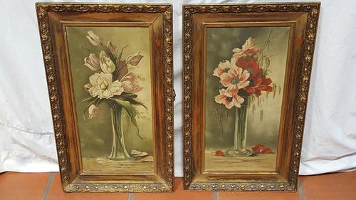 cuadros pintura enmarcados oleo sobre tela firmados $x 2