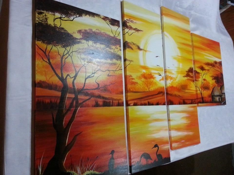 Cuadros pinturas arte a mano tripticos modernos 18 pagos for Cuadros tripticos dormitorios modernos