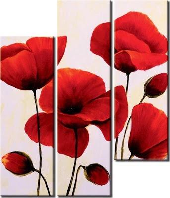 cuadros pinturas de hermosas flores amapolas,calas  oferta!!