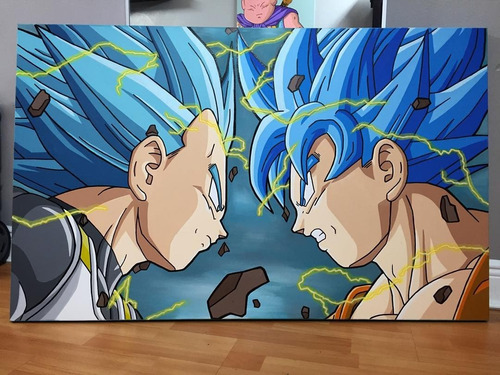 cuadros pinturas dragon ball z