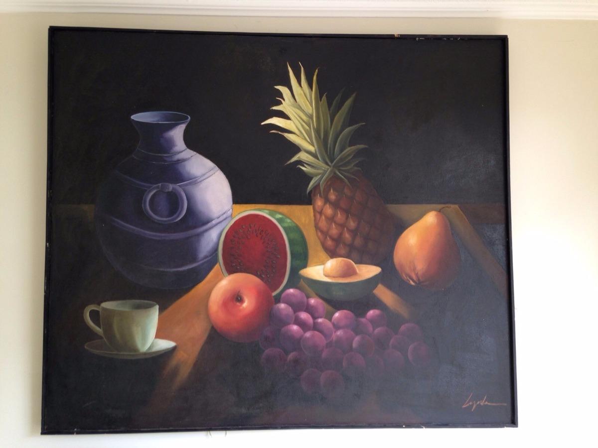 Cuadros pinturas oleos bodegones decorativos grandes - Oleos decorativos ...