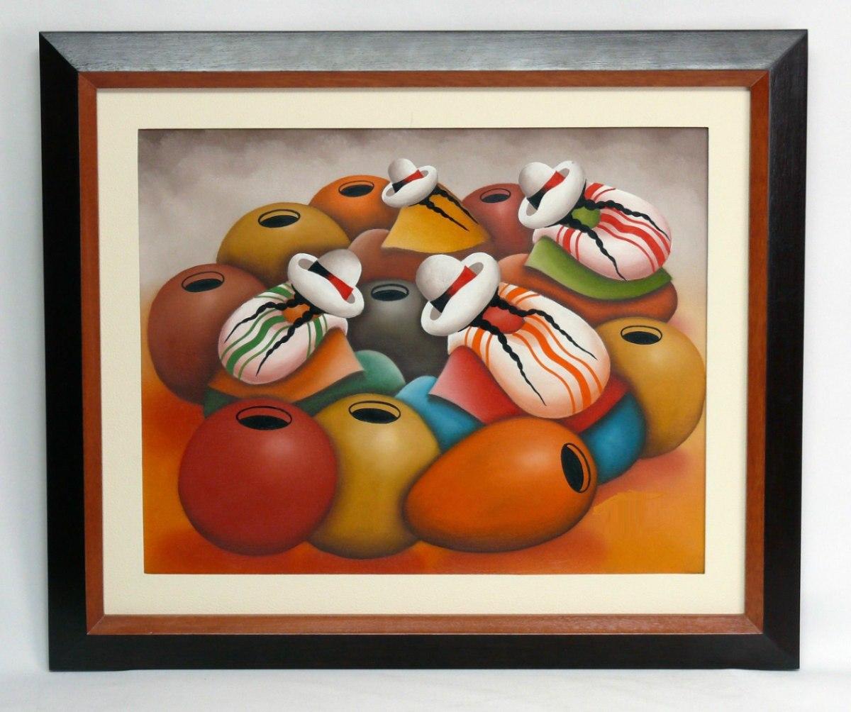 Cuadros pinturas leos decoraci n tripticos abstractos for Marcos para pinturas