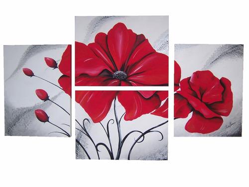 cuadros poliptico moderno floral