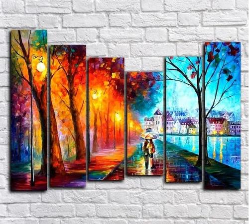 cuadros polipticos paisajes ,pareja amor
