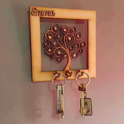 cuadros porta llaves personalizado souvenir 15cm fibrofacil