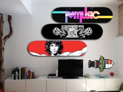 cuadros, posters en formato de skate are decoracion diseño