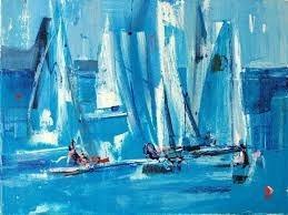 cuadros  regatas y mar