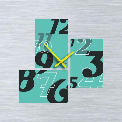 cuadros reloj diseño moderno de 60x60 cm