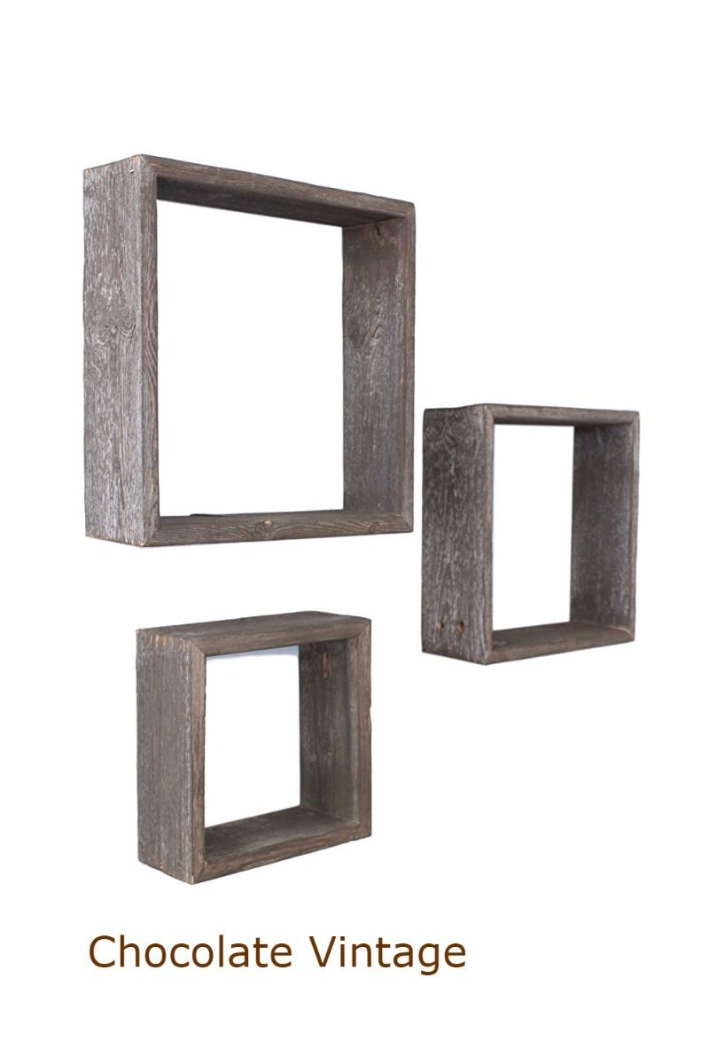 cuadros repisas marcos pared madera rustico vintage set de 3. Cargando zoom. a83481decb13