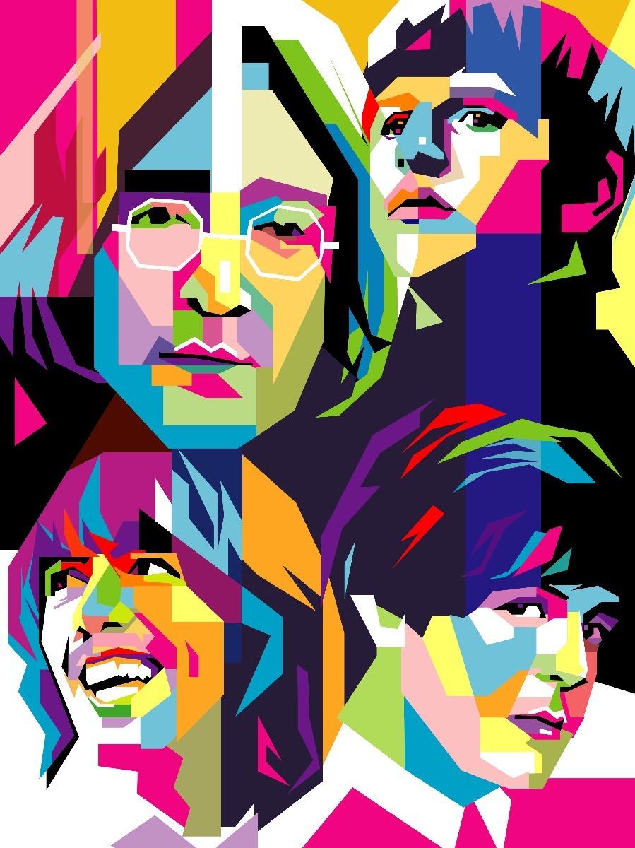 Cuadros rock stars estilo pop art wpap en - Cuadros pop art comic ...