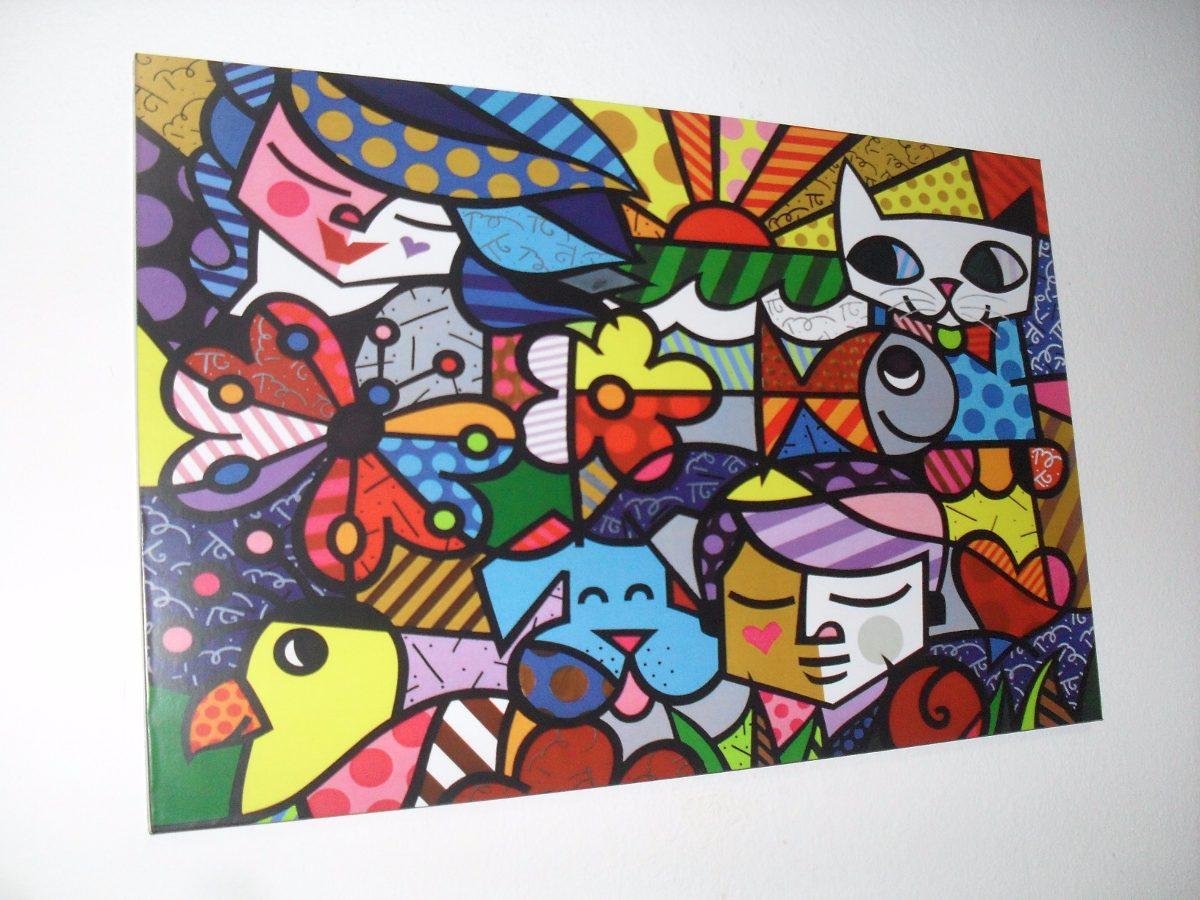 Cuadros Romero Britto - 15x20 - Arte Pop En Bastidor - $ 99,99 en ...
