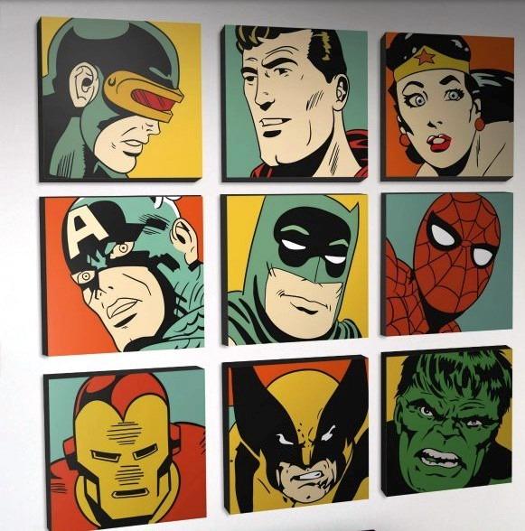 Cuadros superheroes modernos pop art marvel pedidos 13 - Cuadros pop art comic ...
