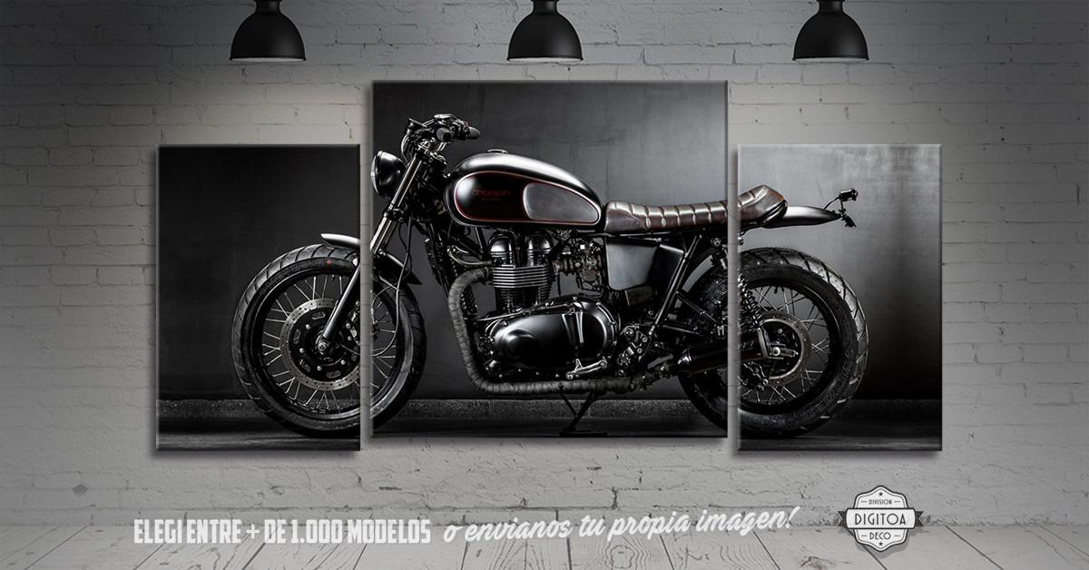 Cuadros Triptico De Motos Impresos En Cuerina 60x40cm - $ 1.130,00 ...