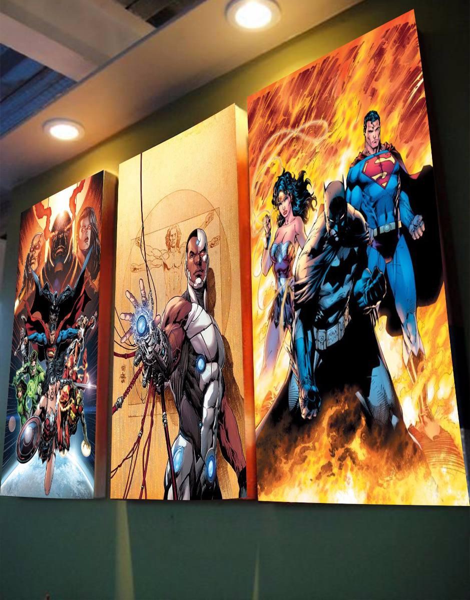 Cuadros Triptico, Marvel, Dc Comic, Anime, Niños Y Adultos - S/ 30 ...
