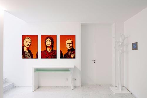 cuadros - triptico personalizado l - opalina entelada 300g
