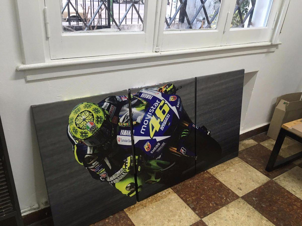 Cuadros Triptico Valentino Rossi Moto Gp Total 120x55 Cm - $ 1.999 ...