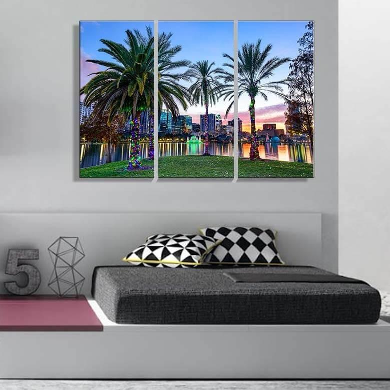 Cuadros Trípticos 90x60 Orlando Estados Unidos Eeuu Y Más - $ 1.599 ...