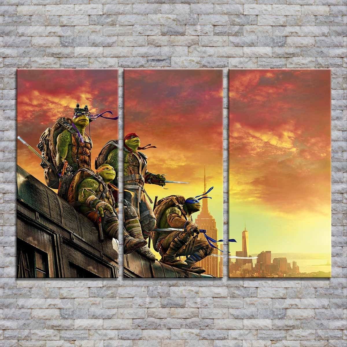 Cuadros Trípticos 90x60 Película Las Tortugas Ninjas Y Más - $ 1.599 ...