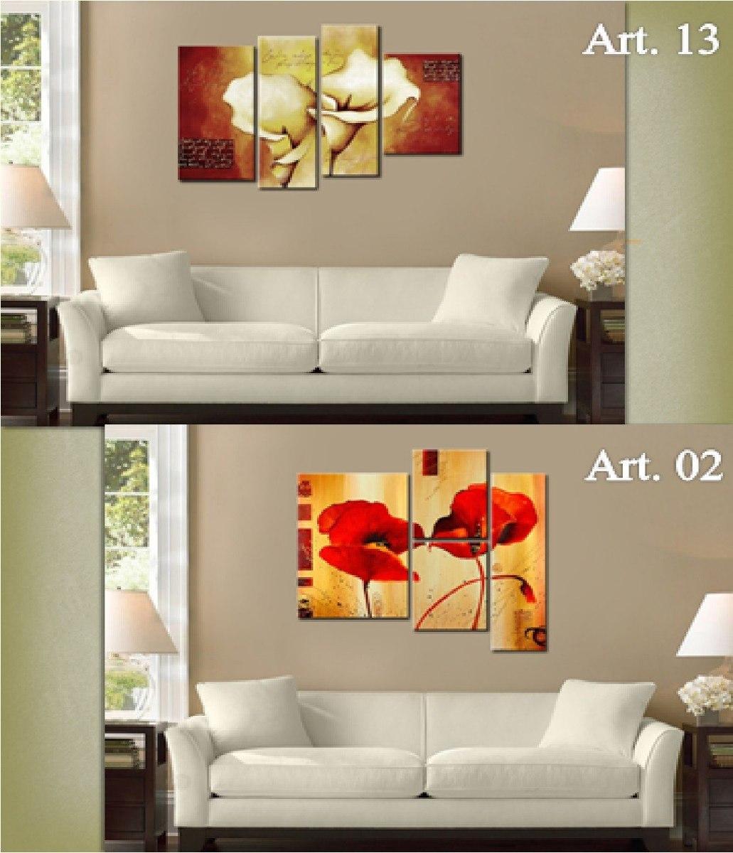Cuadros Tr Pticos Abstractos Florales Texturados 990 00 En  # Muebles Texturados