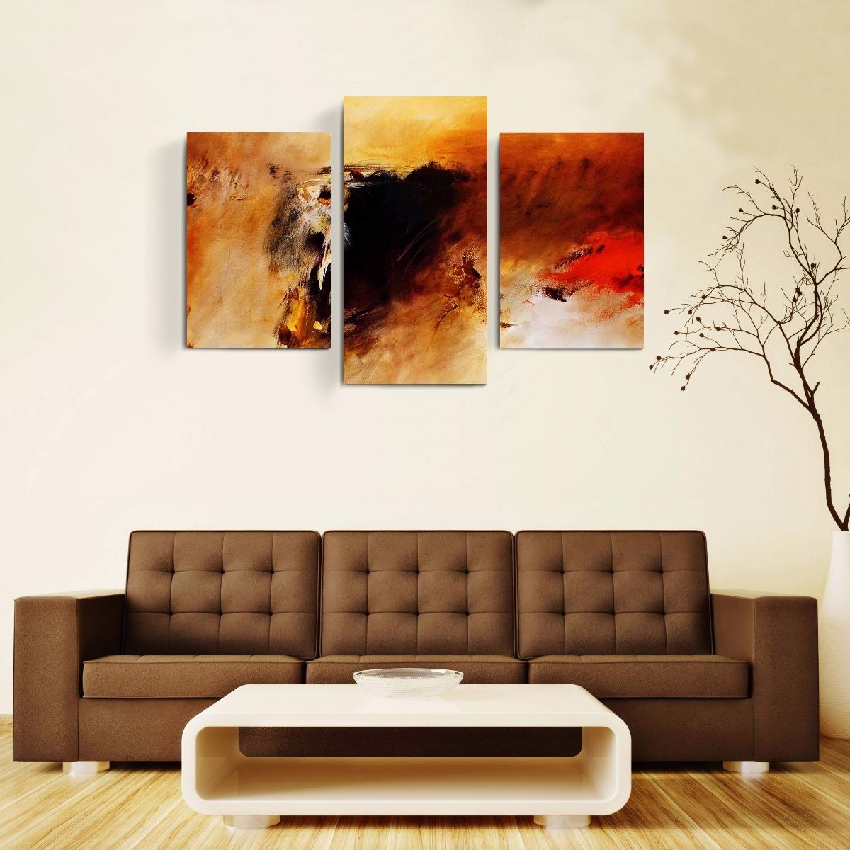 great cuadros tripticos abstractos modernos grandes with decoracion con cuadros grandes - Cuadros Grandes Dimensiones