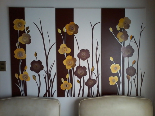 cuadros tripticos acrilico sobre madera