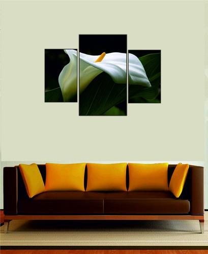 cuadros tripticos buda zen orientales abstracto moderno flor