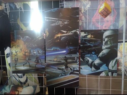 cuadros tripticos de star wars