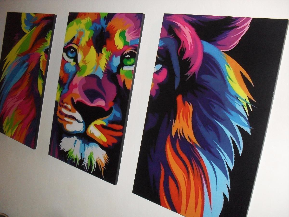 Cuadros Tripticos Decoracion Interiores The Lion King Xl 635
