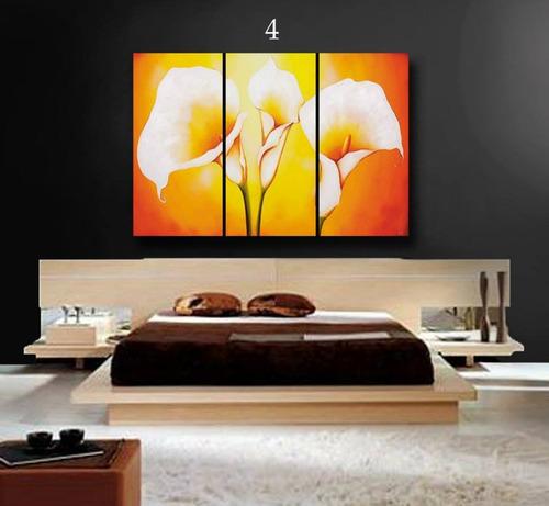 cuadros tripticos en lienzo canvas exclusivo 90x60 modernos