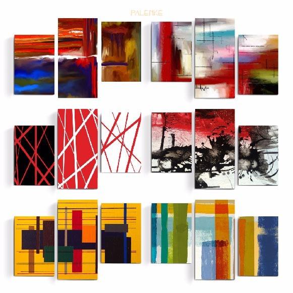 Cuadros Tripticos Grande Decoracion Abstractos Moderno Kit