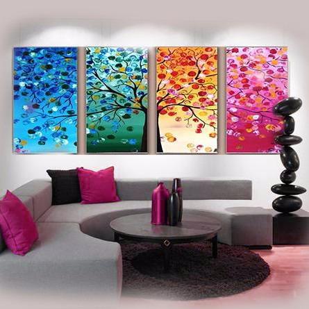 Cuadros Tripticos Habitacion Cama Sillon Comedor Abstracto - $ 1.680 ...