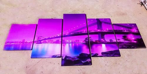 cuadros tripticos moderno 2x1 de budas