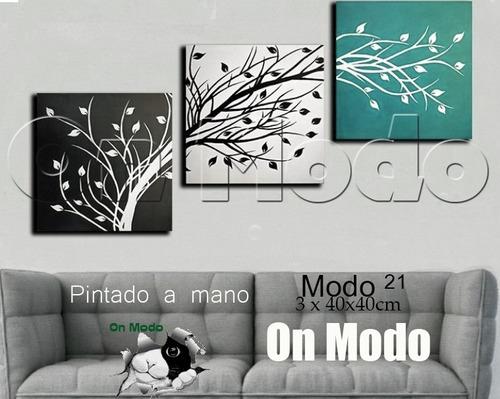 cuadros tripticos modernos decorativos minimalistas living