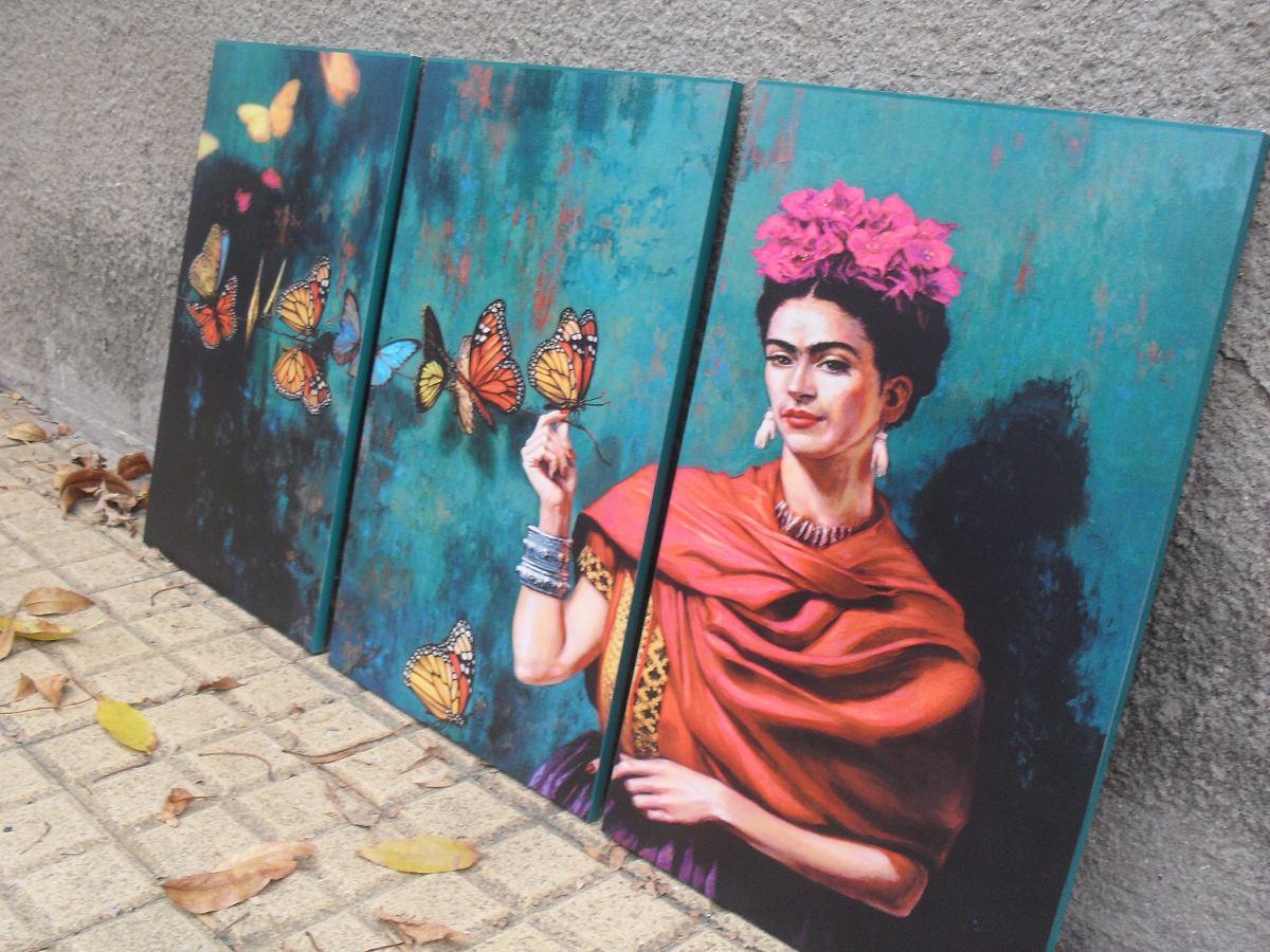 Cuadros Tripticos Modernos Frida Kahlo - Arte - Decoración - $ 850 ...