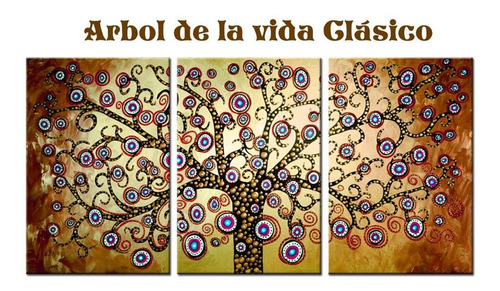 cuadros tripticos modernos living arboles sillon grandes